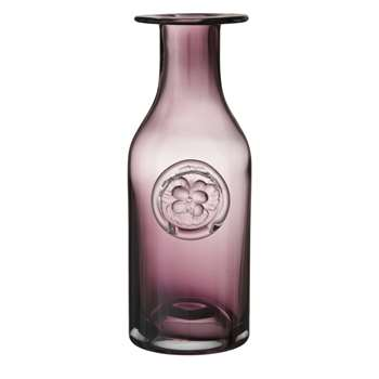 Dartington Crystal Pansy Bottle Vase, Heather (Height 18cm)