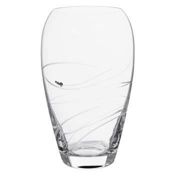 Dartington Crystal Rhumba Barrel Vase, Medium (H23cm)