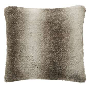 Dartmoor Chocolate Faux Fur Cushion (58 x 58cm)