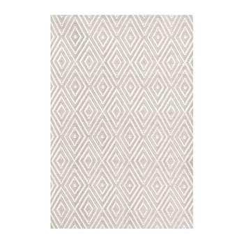 Dash & Albert - Diamond Indoor/Outdoor Rug - Platinum/White (H91 x W61cm)