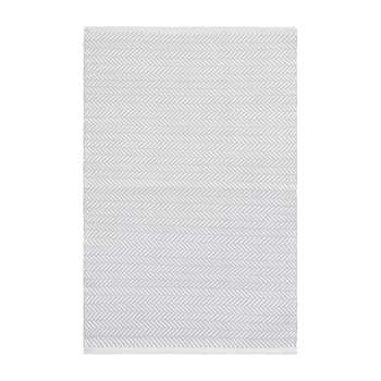 Dash & Albert - Herringbone Indoor/Outdoor Rug - Pearl Grey/White (H183 x W122cm)