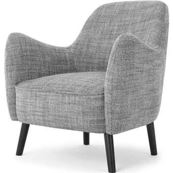 Davis Accent Chair, Knight Weave Grey (H84 x W81 x D84cm)