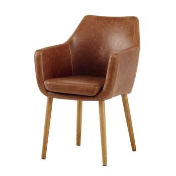 DAVIS Vintage armchair in brown (84 x 58cm)
