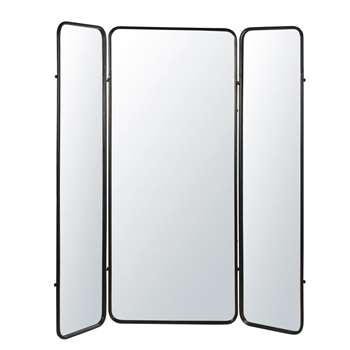 DAWSON Black Metal and Mirror Screen (H190 x W172 x D3.5cm)