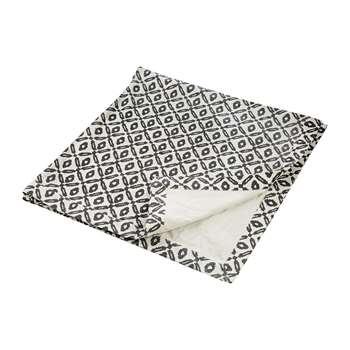 Day Birger Et Mikkelsen - Diamond Print Blanket - Black/White (H140 x W140cm)