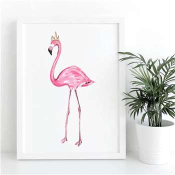 De Fraine Design London - Pink Flamingo A4 Print (H29.7 x W21cm)