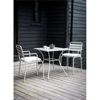 Dean Street Square Table & Two Arm Chairs in Clay (72 x 70cm)