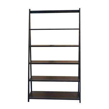 Debenhams - Black Fenton Wide Shelving Unit (H168 x W95 x D40cm)