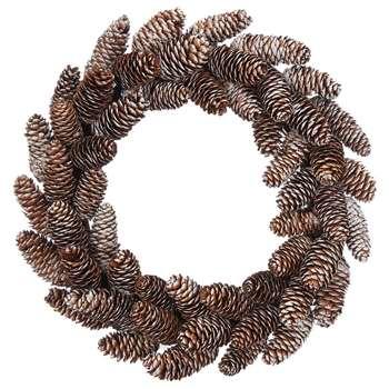 Debenhams - Brown Pinecone Wreath