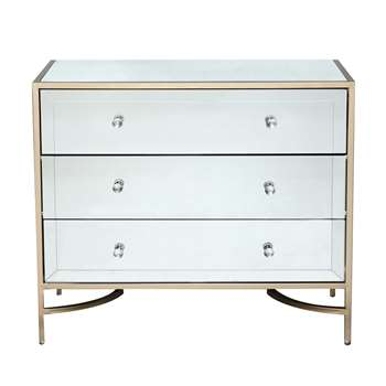 Debenhams - Gatsby 3 Drawer Chest (H71 x W79 x D40cm)