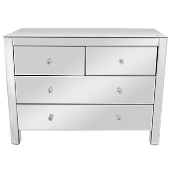 Debenhams - Mirrored 4 Drawer Chest (H75 x W100 x D42cm)