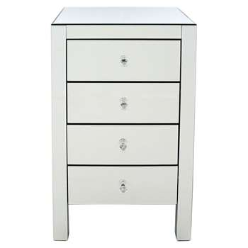 Debenhams - Mirrored 4 Drawer Chest (H85 x W49 x D41cm)