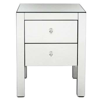 Debenhams - Mirrored Bedside Cabinet With 2 Drawers (60 x 45cm)