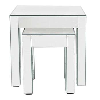Debenhams Mirrored Nest of 2 Tables (46 x 46cm)