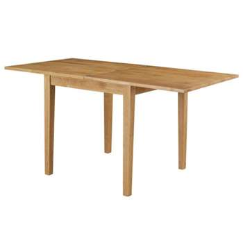 Debenhams Oak fenton Flip-Top Table, Brown (75 x 160cm)