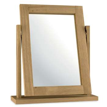 Debenhams - Oak Finished Burlington Vanity Mirror (H58 x W50 x D15cm)