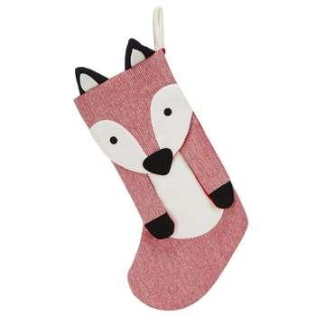 Debenhams - Red Fox Christmas Stocking (Height 51cm)