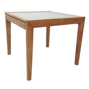 Debenhams Rubberwood Cheshire Extending Table, Brown (76 x 90-180cm)