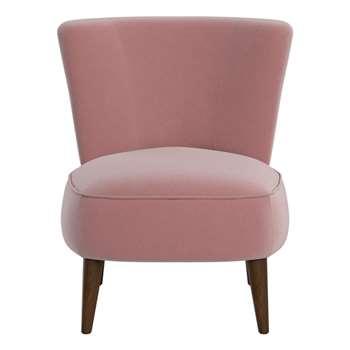 Debenhams Velvet boutique Accent Chair, Pink (76 x 65cm)