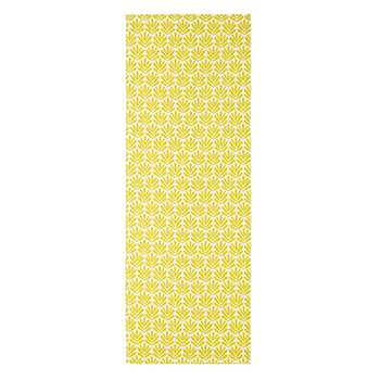 Deckchair Canvas with Yellow Graphic Motifs (44 x 124cm)