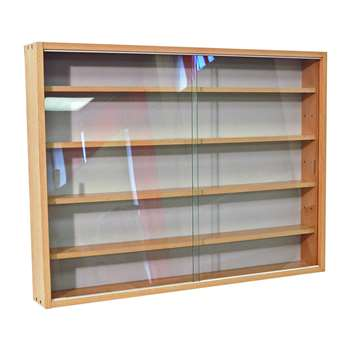 Deco Beech 2 Glass Door Display Cabinet 60 x 80cm