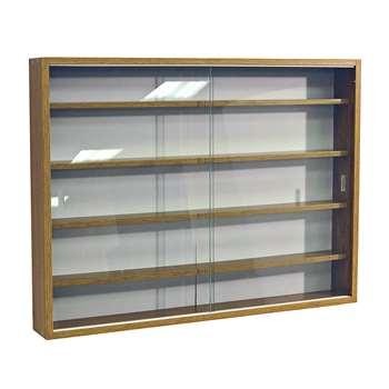 Deco Oak 2 Glass Door Display Cabinet 60 x 80cm