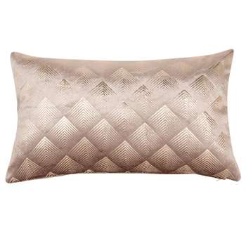 DECO - Old Rose Cushion Cover with Silver Print (H30 x W50cm)