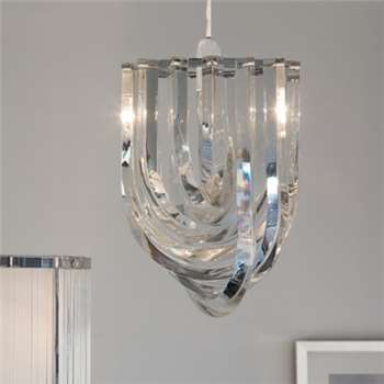 Deco Shade Chandelier, Clear