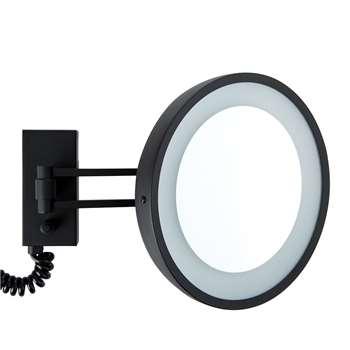 Decor Walther - BS 36/V LED Cosmetic Mirror - 5x Magnification - Matt Black (22 x 30)