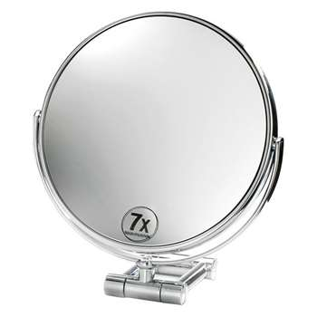 Decor Walther - SPT 50/V Cosmetic Mirror - Chrome - 7x Magnification (21.5 x 19cm)