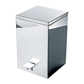 Decor Walther - TE 70 Pedal Bin - Polished Stainless Steel (H32 x W20 x D20cm)