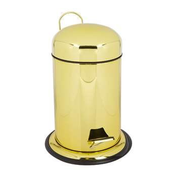 Decor Walther - TE30 Pedal Bin - Gold Varnish (H31 x W22 x D24cm)