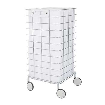 Decor Walther - WR1 Laundry Trolley - White (H73 x W35 x D35cm)