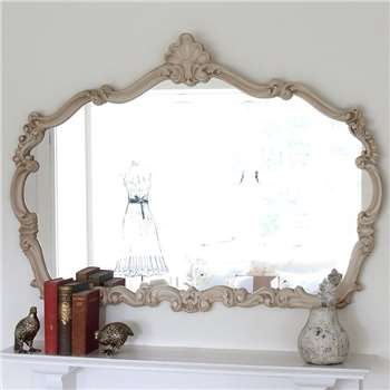 Decorative Mirrors Online - Renaissance Ivory Overmantle Mirror (H87 x W120 x D4cm)