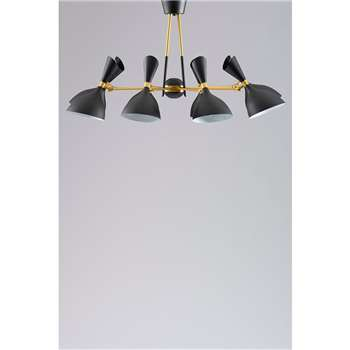 Delano Eight Light Pendant (H54 x W96 x D96cm)