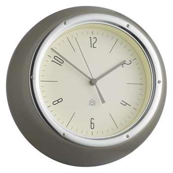 Delia Grey metal wall clock (Diameter 21cm)