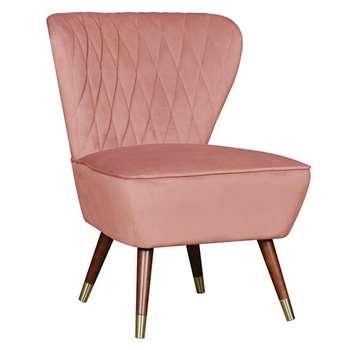Delilah Diamond Back Chair -Blush Pink (H84 x W60 x D56cm)