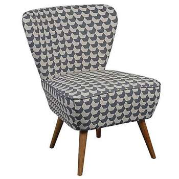 Delilah Grey Chevron Retro Occasional Chair with Natural Oak Legs (84 x 60cm)