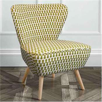 Delilah Kelp Retro Occasional Chair with Natural Oak Legs (84 x 60cm)