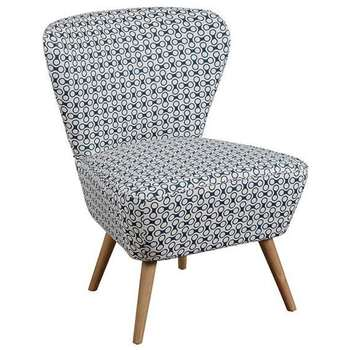 Delilah Petrol Blue Retro Occasional Chair with Natural Oak Legs (84 x 60cm)