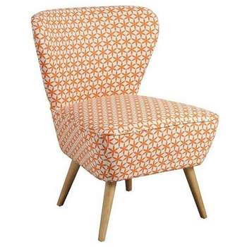 Delilah Star Anise  Retro Occasional Chair with Natural Oak Legs (84 x 60cm)