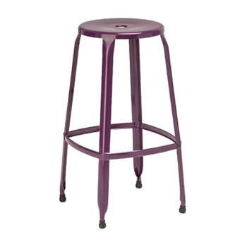 Dellila Bar Stool - Purple, Set of 2 (76 x 39cm)