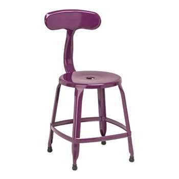 Dellila Bar Stool - Purple, Set of 4 (78 x 36cm)