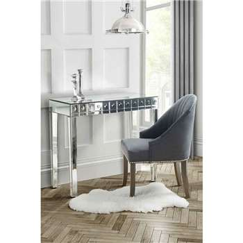 DEMETER Mirrored Dressing Table with Single Drawer (80 x 90cm)
