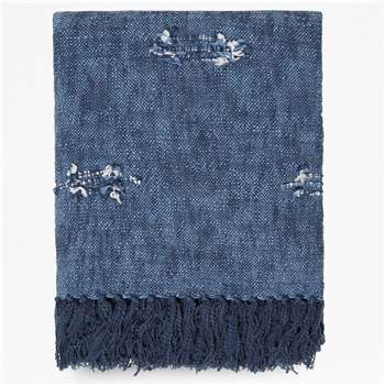 Denim Blue Throw - Blue (H130 x W170cm)