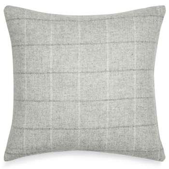 Denton Pale Steel Check Cushion (43 x 43cm)