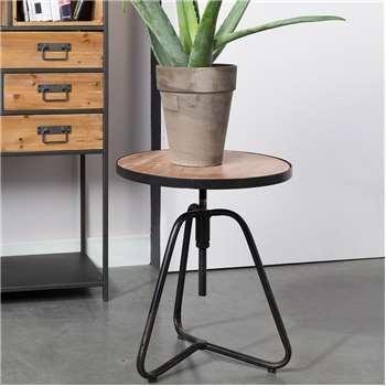 Denzel Industrial Side Table (60 x 45.5cm)