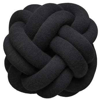 Design House Stockholm - Knot Cushion - Anthracite (H30 x W30 x D16cm)