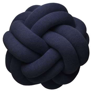 Design House Stockholm - Knot Cushion - Navy (H30 x W30 x D16cm)