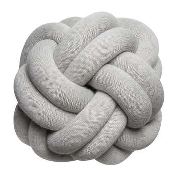 Design House Stockholm - Knot Cushion - White Grey (H30 x W30 x D16cm)